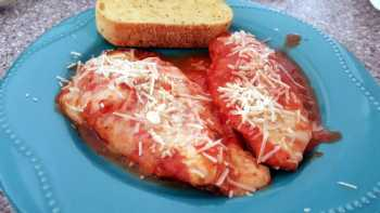 Easy Baked Chicken Parmesan - Non breaded