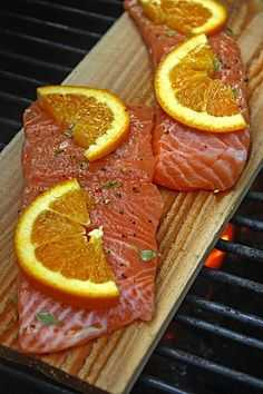 Planked Atlantic Salmon-BBQ Style