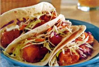 Beer Battered Fish Tacos with Chipotle Coleslaw!