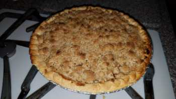 Asian Pear Pie With Crumb Topping